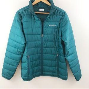 Size medium COLUMBIA teal puffer jacket